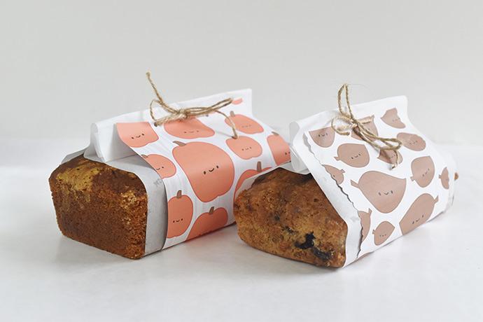 Kawaii Autumn Bread Wrappers