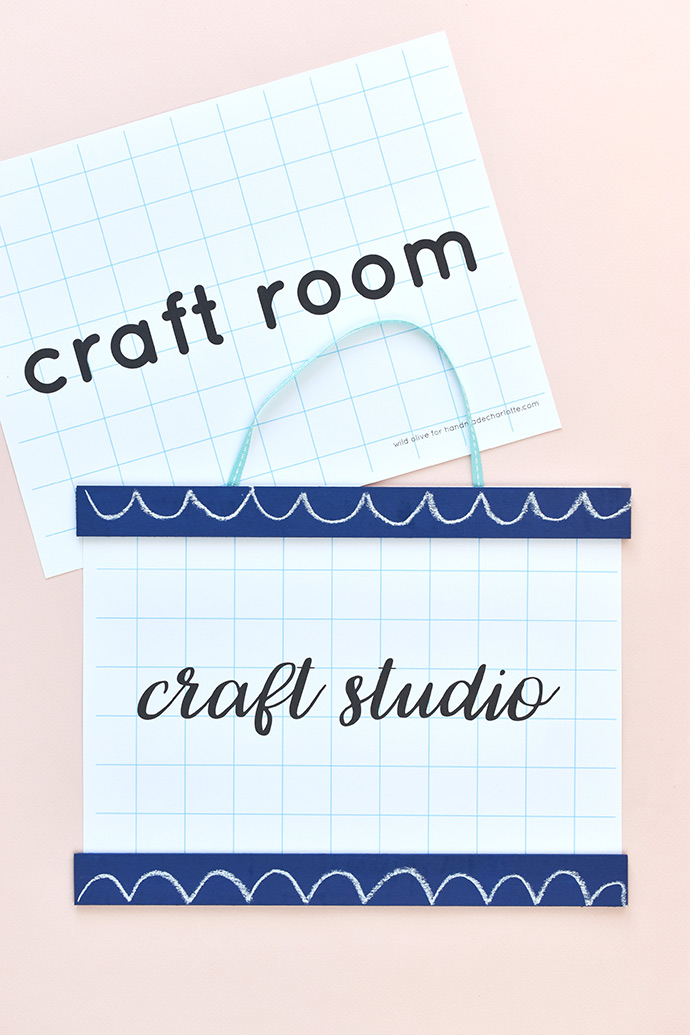 Printable School-Style Room Signs