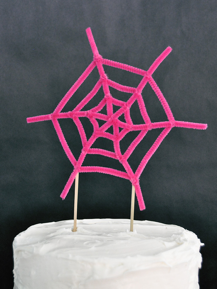 Spiderweb Cake Toppers