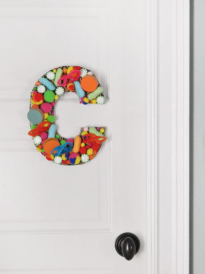 DIY Bedroom Door Sign