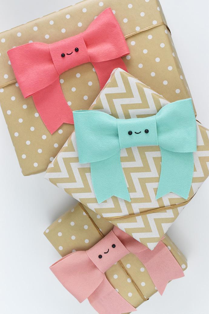 Kawaii Bow Gift Toppers