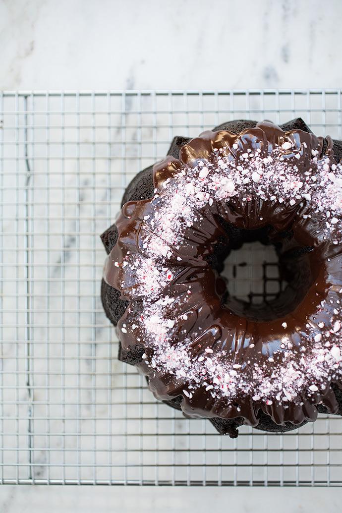 Chocolate Mint Bundt Cake