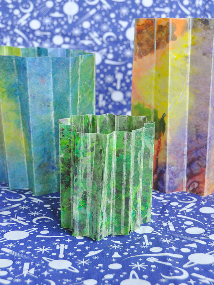 DIY Melted Crayon Lanterns