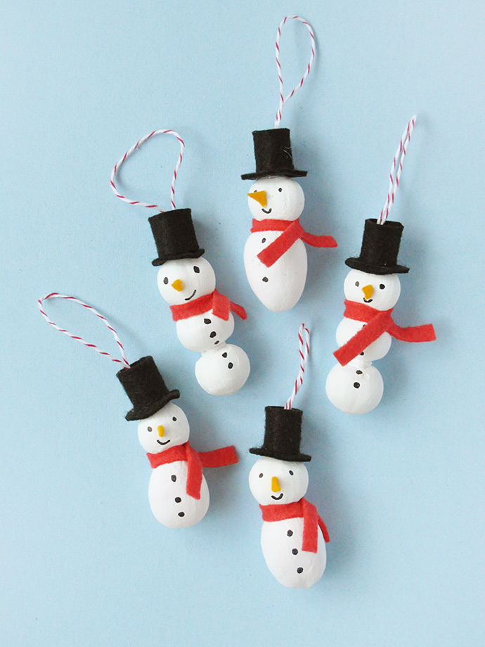 Painted Nut Ornaments