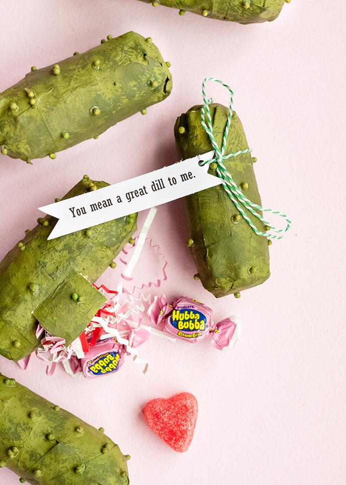 Pickle Piñata Valentines