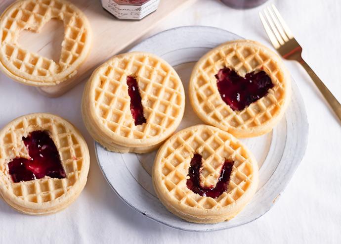 Valentine's Day Waffles