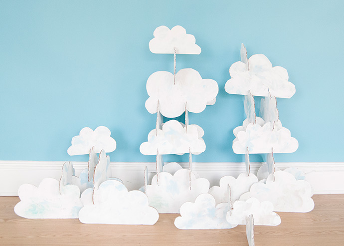 Cardboard Stacking Clouds