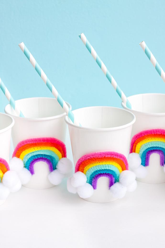 DIY Rainbow Party Cups