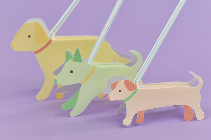 Printable Dog Walking Toys