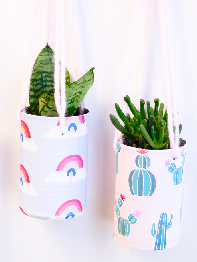 Recycled Tin Can Planters