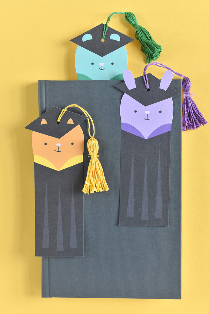 Printable Animal Graduation Bookmarks