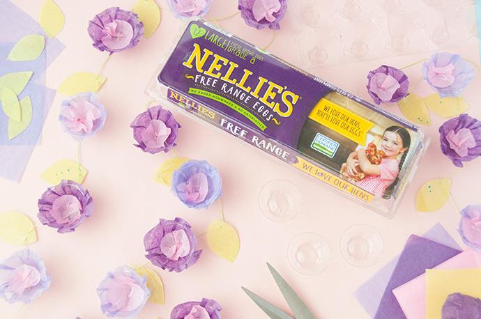 Egg Carton Floral Garland