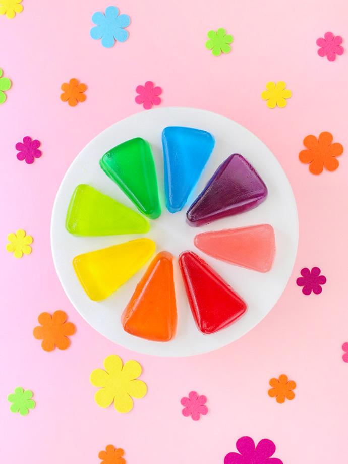 DIY Color Wheel Jell-O