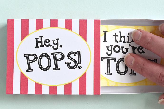 Printable Matchbox Pop-Up Cards