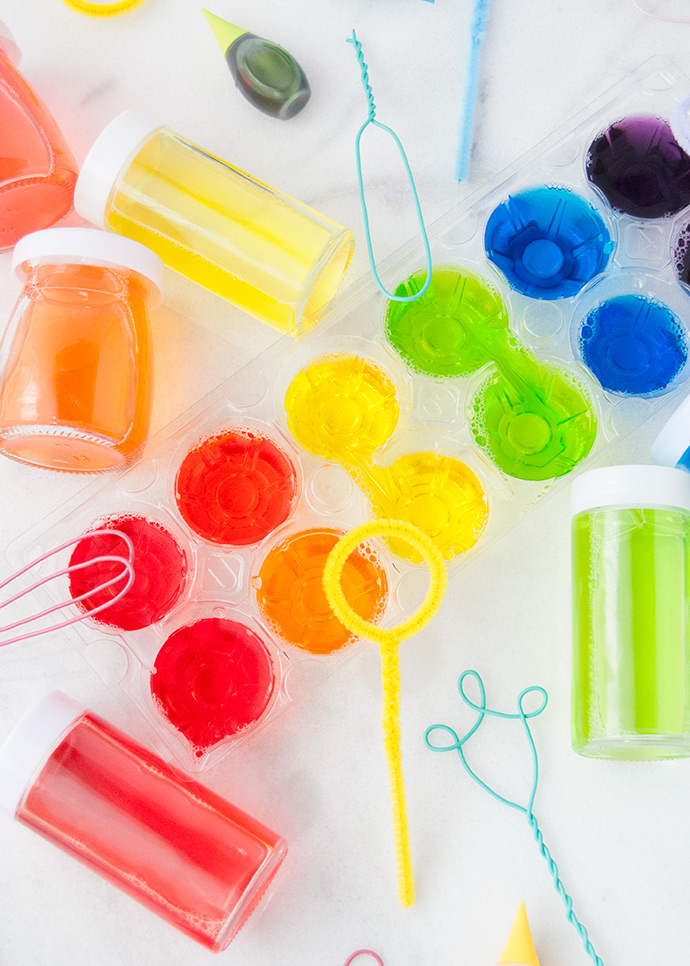 DIY Scented Rainbow Bubbles