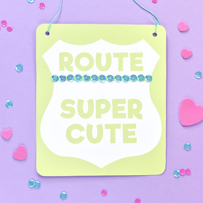 Crafty Cute Road Sign Mini-Posters