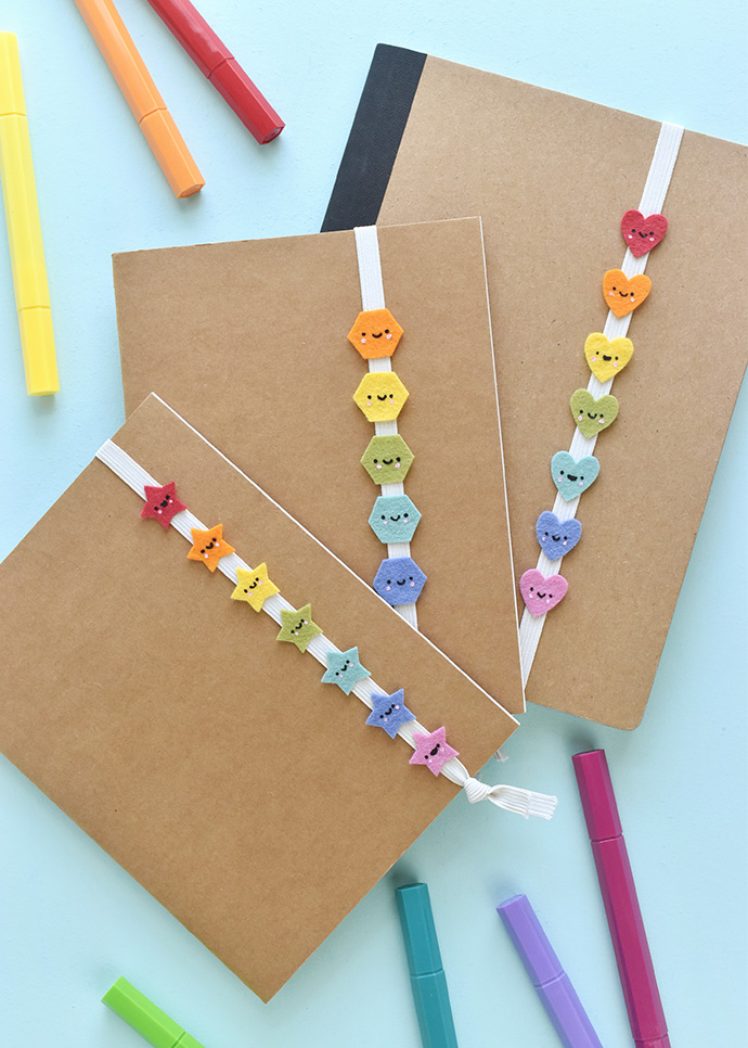 Kawaii Rainbow Book Bands