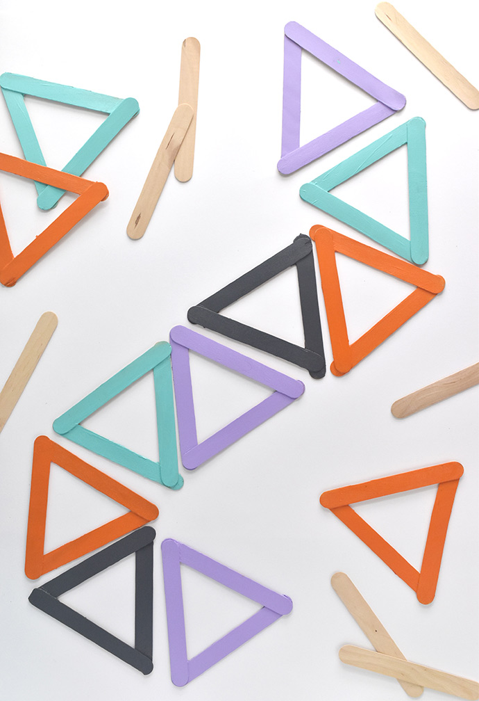 DIY Geometric Mosaic Tiles