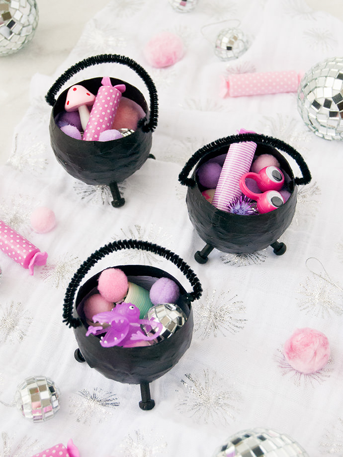 Mini Halloween Cauldron Party Favors