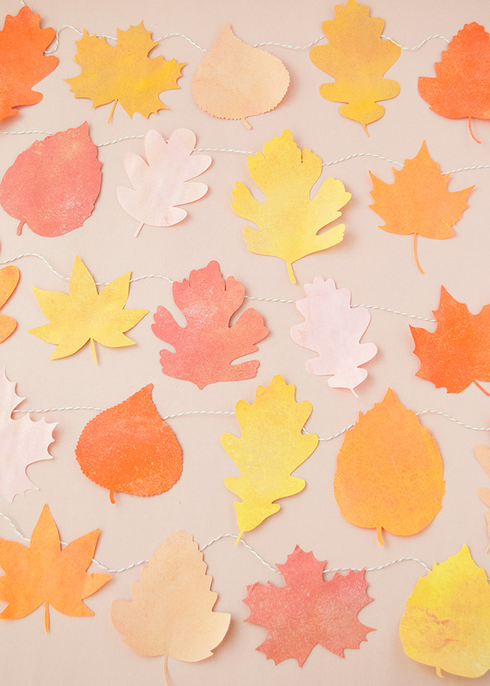 Chalky Fall Leaf Garland