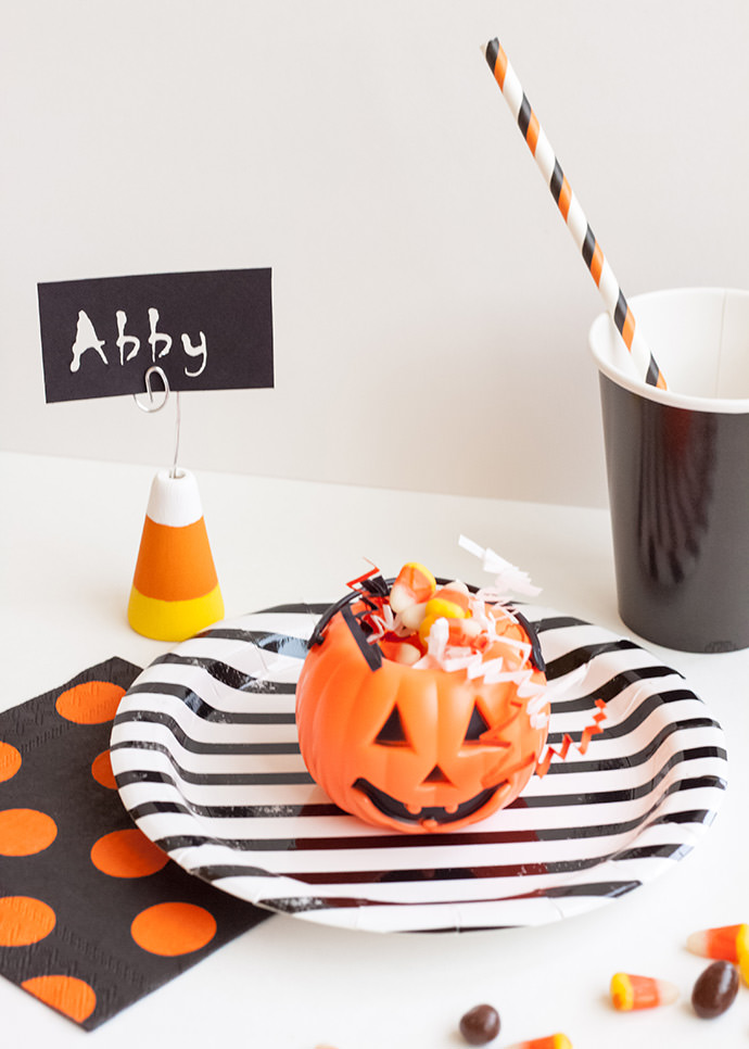 Candy Corn Place Card Holders
