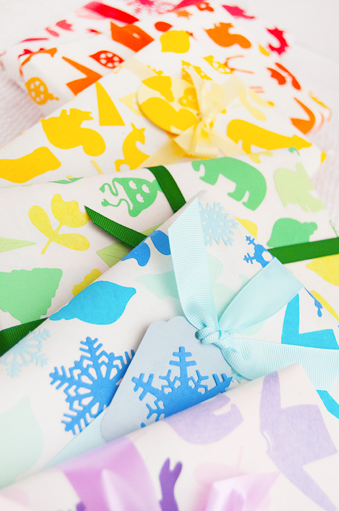 Rainbow Christmas Wrapping Paper
