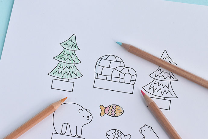 Printable Polar Bear Diorama Playset