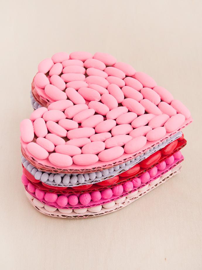 Bean Mosaic Valentines