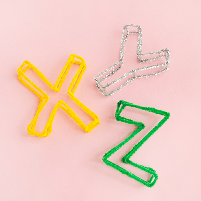 Pipe Cleaner Alphabet