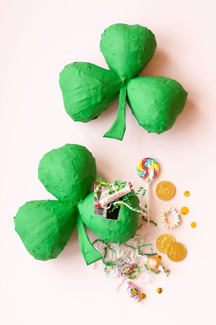 DIY Shamrock Piñata