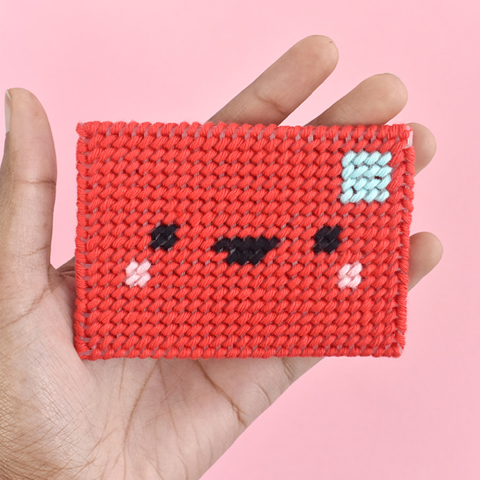 Kawaii Plastic Canvas Gift Card Envelope