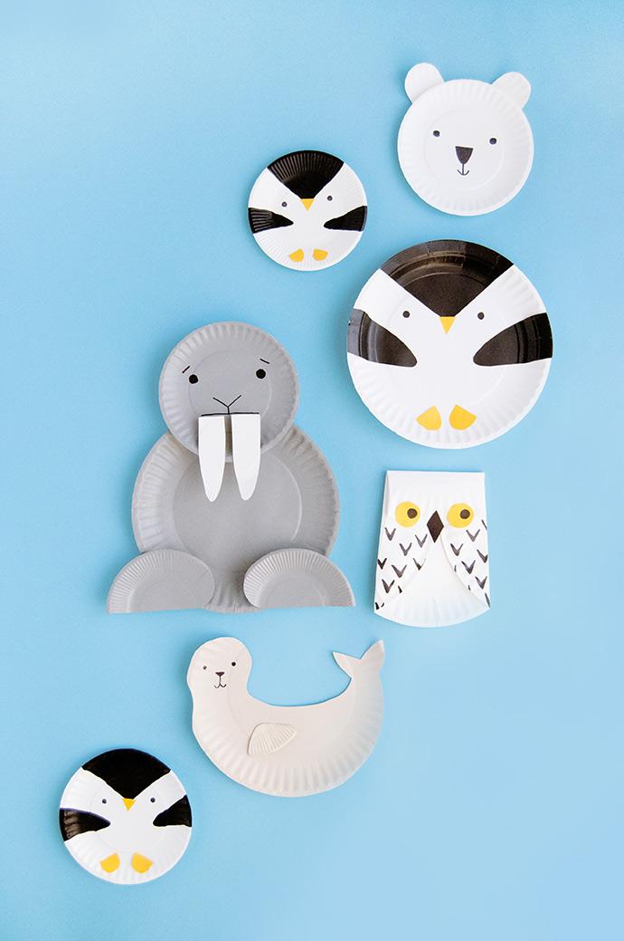 Arctic Animal Paper Plates