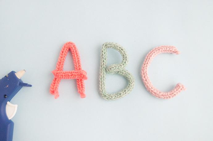 French Knit Monogram Brooch
