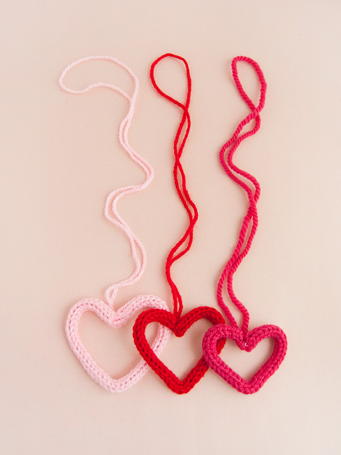 French Knit Valentine's Day Necklaces