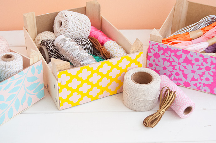 How to Repurpose Clementine Boxes into Storage