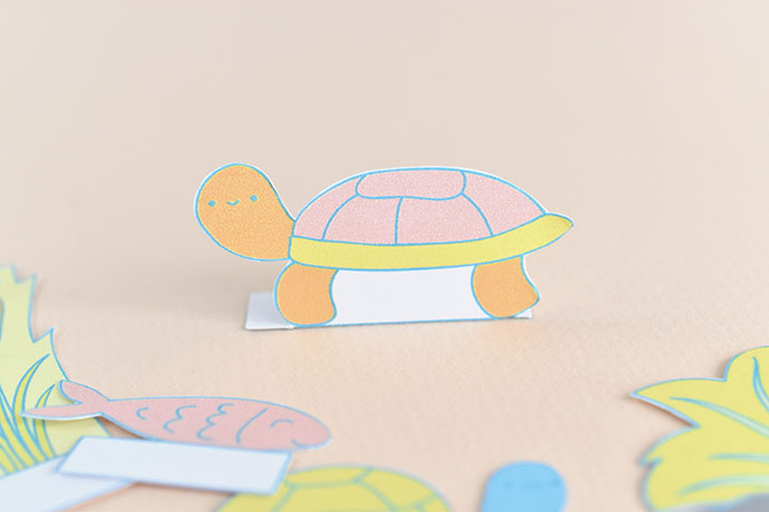 Printable Turtle Pond Diorama Playset