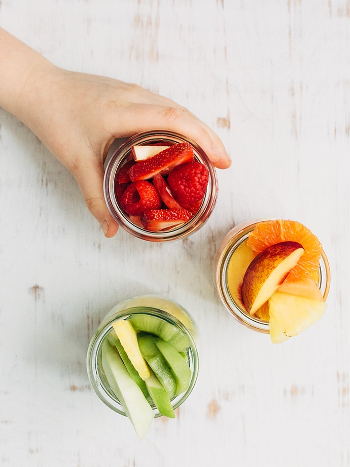 Monochrome Fruit Salad Cups