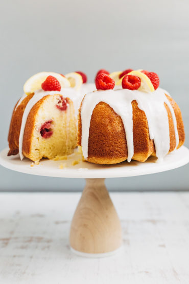 Raspberry Lemon Bundt Cake