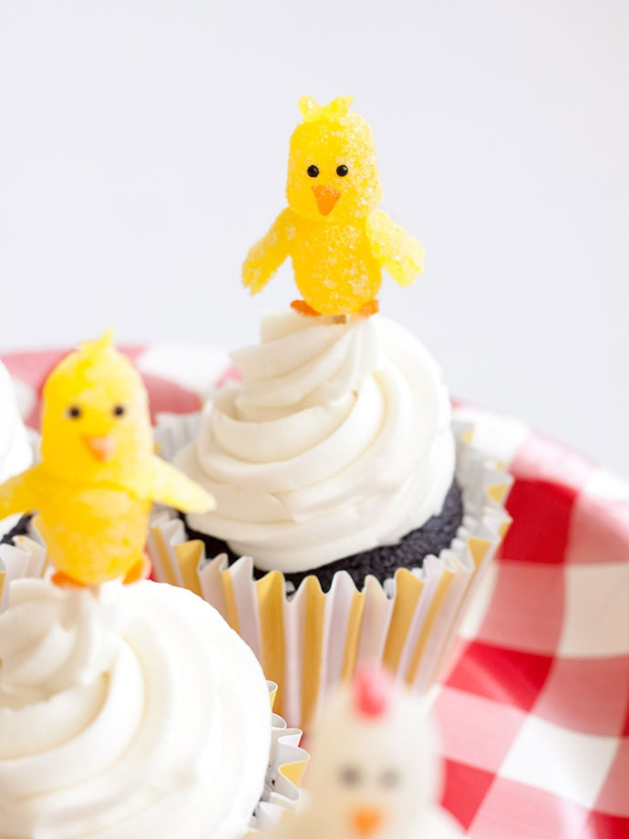 Gumdrop Chick Cupcake Toppers
