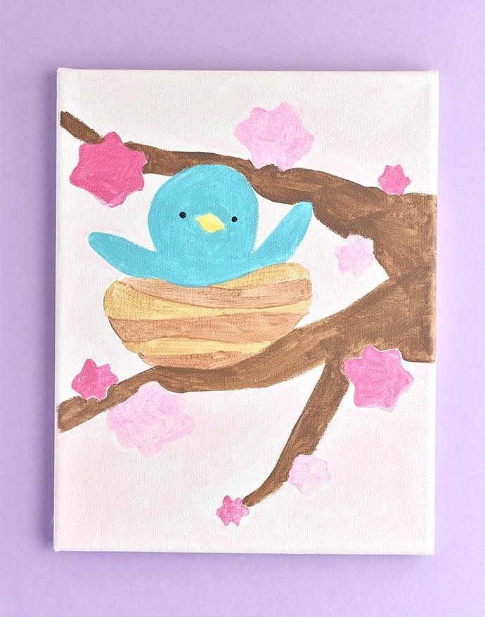 DIY Spring Paint by Number Artwork