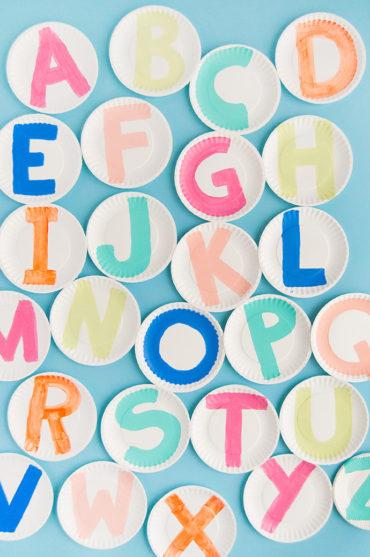 Painted Alphabet Plates
