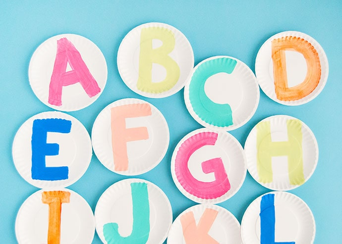 Painted Alphabet Plates