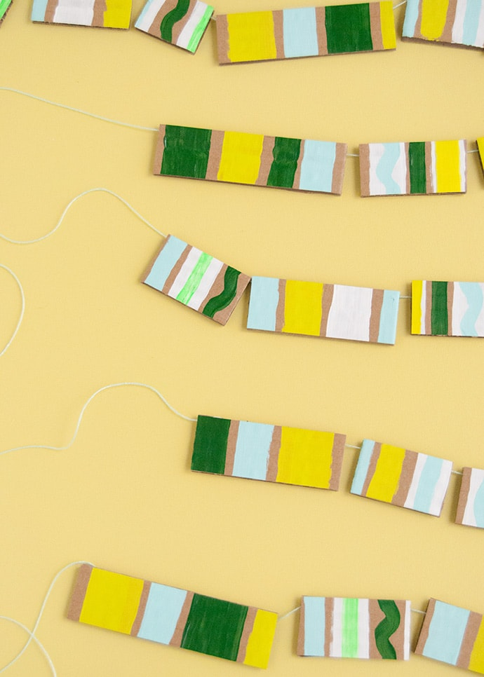 How to Make Painted Cardboard Beads