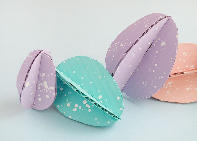 Upcycled Cardboard Easter Eggs