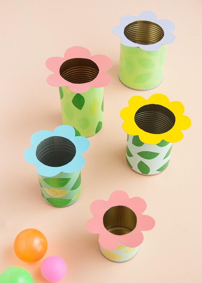 Flower Tin Can Toss