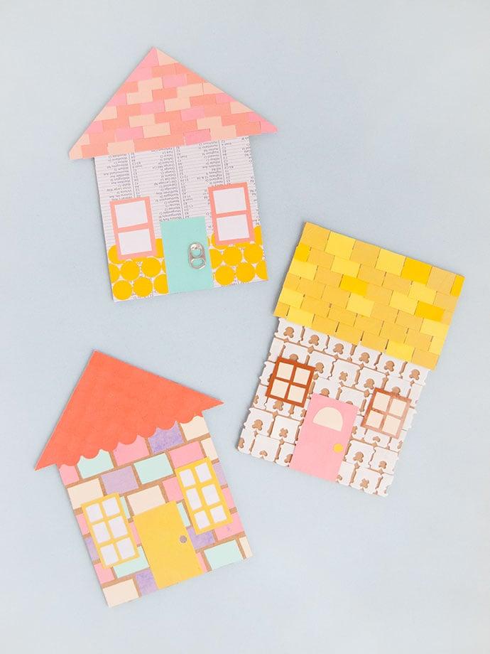 Upcycled House Mosaic Art
