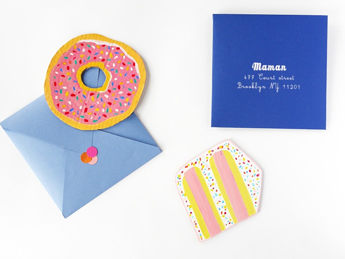 Painted Donut Mother's Day Card