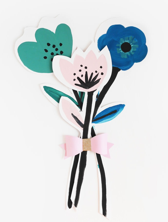 DIY Painted Bouquet of Flowers