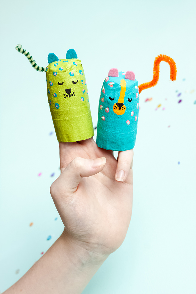 Paper Mache Animal Finger Puppets