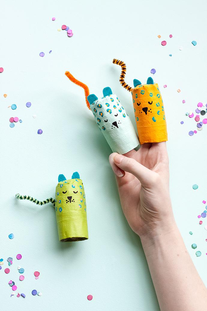 Paper Mache Animal Finger Puppets